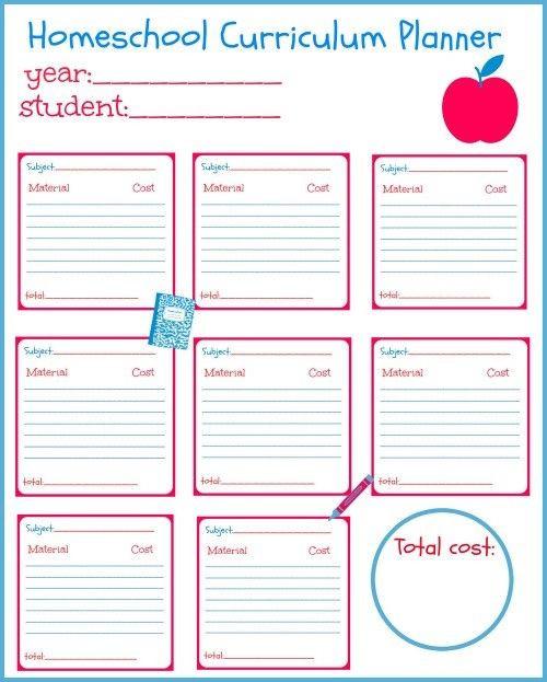 Curriculum Planner Template Homeschool Curriculum Planning Template 2 Clarifications