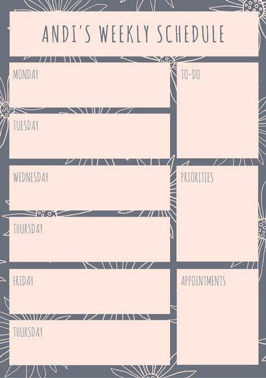 Custom Day Planner Template Pin On Customized Planner