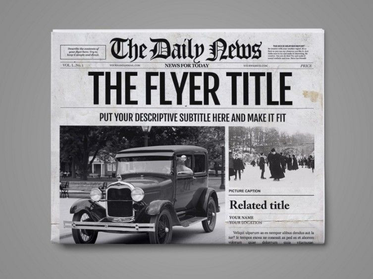 Daily Planet Newspaper Template Free 20 Old Newspaper Template – Psd Indesign and Ai format
