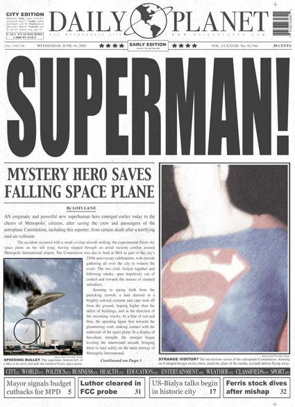 Daily Planet Newspaper Template Free Daily Planet Newspaper