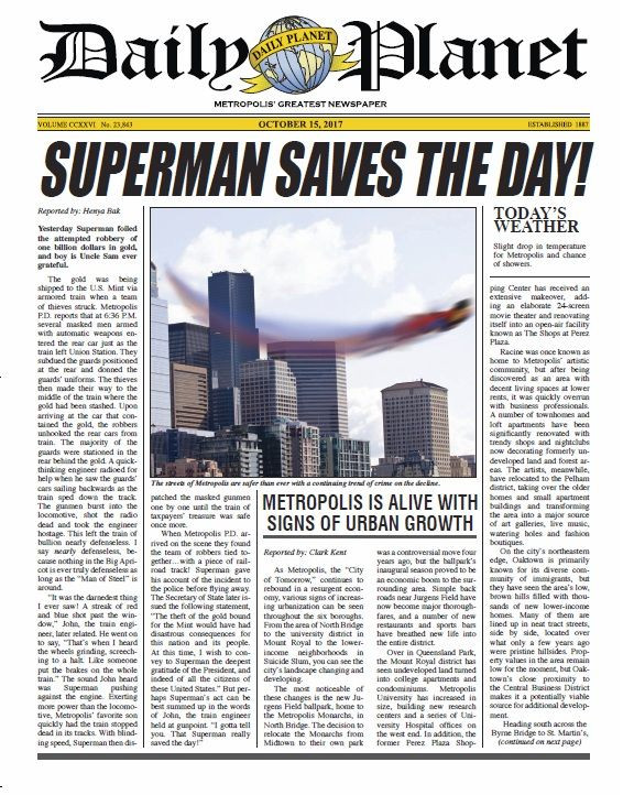 Daily Planet Newspaper Template Free Daily Planet