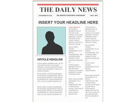 Daily Planet Newspaper Template Free Editable Newspaper Template – Portrait
