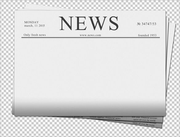 Daily Planet Newspaper Template Free Newspaper Template Demirediffusion Pertaining to