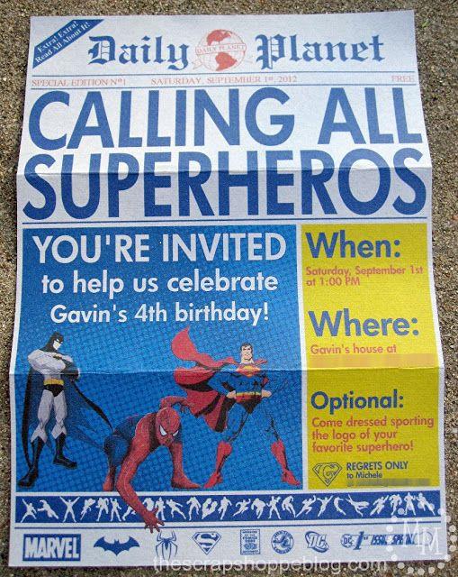 Daily Planet Newspaper Template Free Superhero Invitation Template Free