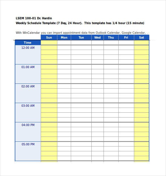 Daily Planner Template Excel 24 Hours Daily Planner Template Excel format Download