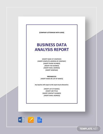 Data Wise Action Plan Template Business Data Analysis Report Template In 2020