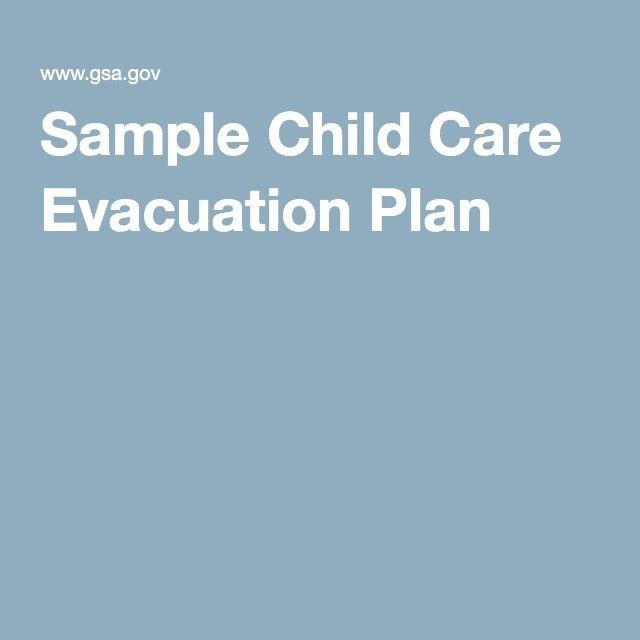 Daycare Emergency Preparedness Plan Template Sample Child Care Evacuation Plan