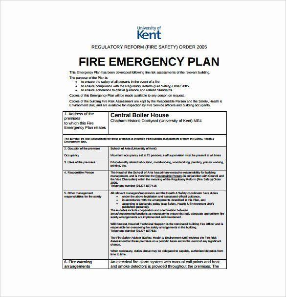 Daycare Emergency Preparedness Plan Template Sample Emergency Evacuation Plan Template Awesome Emergency