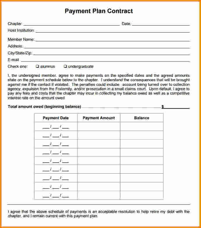 Debt Payment Plan Template Payment Plan form Unique Best 25 Payment Agreement Ideas