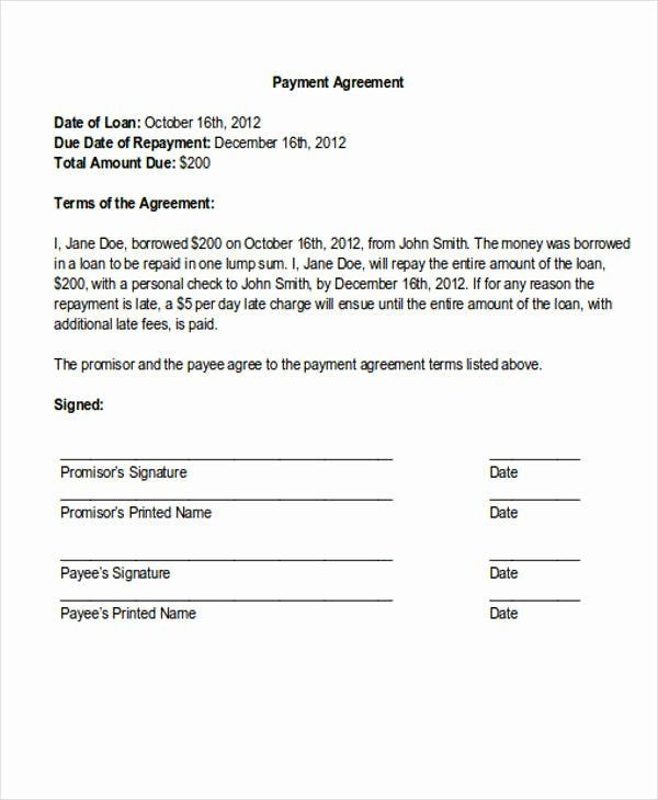 Debt Payment Plan Template Payment Plan Letter Template Lovely 36 Payment Letter
