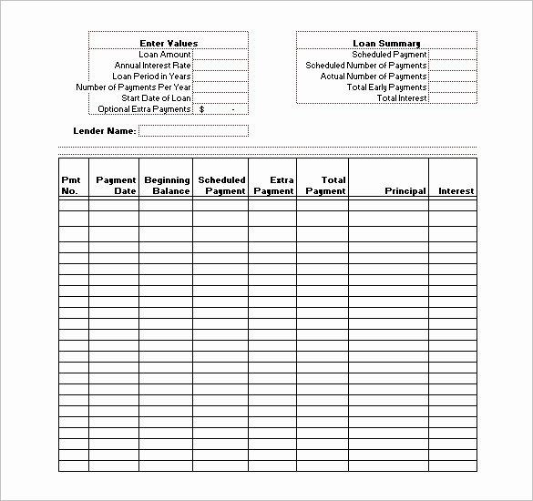 Debt Payment Plan Template Payment Plan Template Free Lovely Loan Payment Schedule