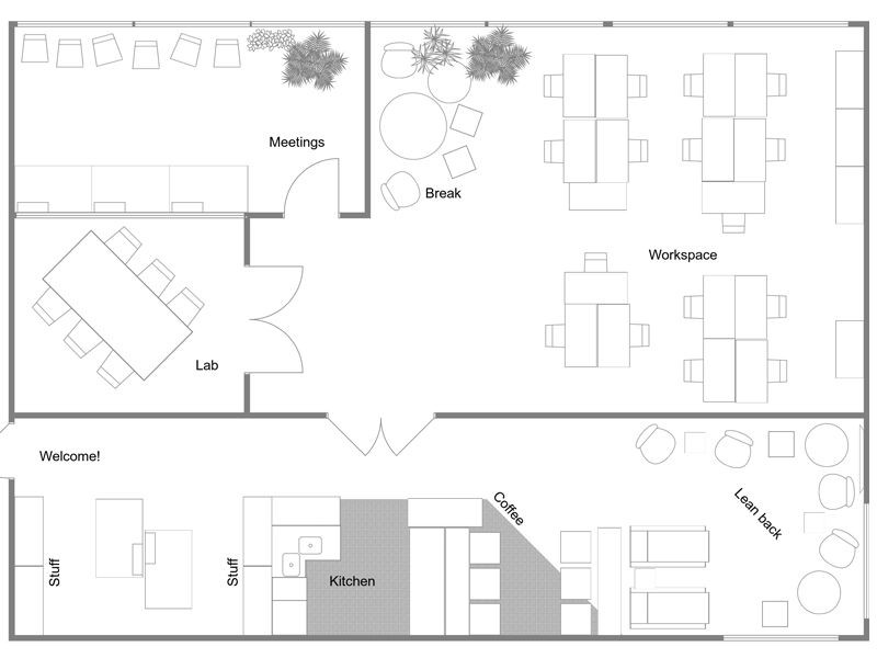 Design A Floor Plan Template Plan Your Fice Design with Roomsketcher