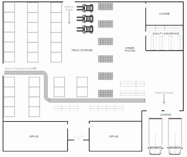 Design A Floor Plan Template Powerpoint Floor Plan Template New Warehouse Layout Design