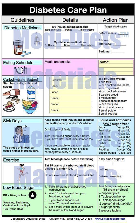 Diabetes Care Plan Template Additional Diabetes Information Type 2 Diabetes is A