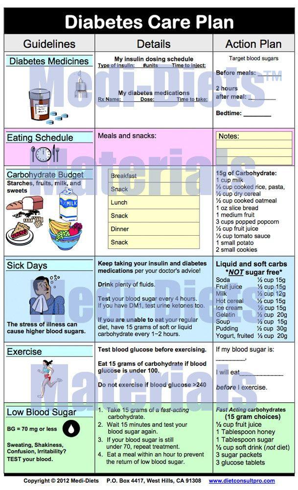 Diabetes Care Plan Template Diabetic Care Plan Template Elegant Medi Diets™ Products In