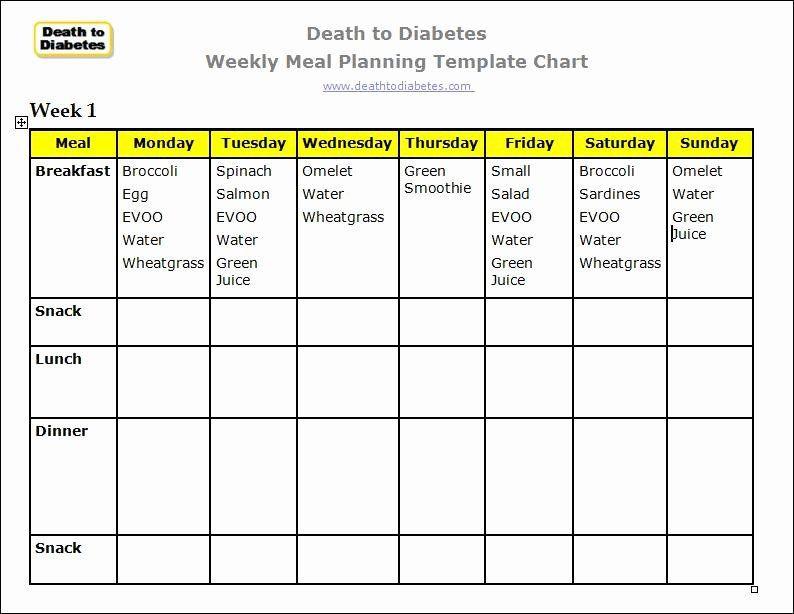 Diabetes Meal Planner Template Diabetic Meal Planning Template Lovely Diabetes Meal