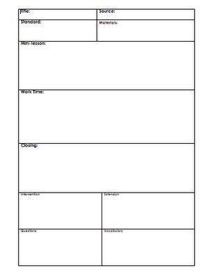 Easy Lesson Plan Template Basic Lesson Plan Template Ery Novoselsky