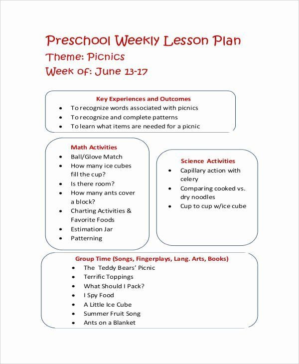 Eats Lesson Plan Template Eats Lesson Plan Template Luxury Let39s Eat Healthy Lesson
