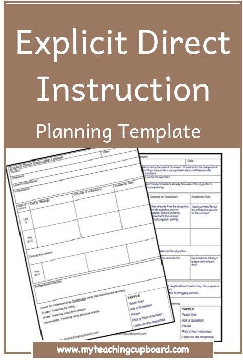 Edi Lesson Plan Template Pin On Helpful Hints