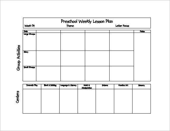 Edi Lesson Plan Template Preschool Daily Lesson Plan Template Preschool Lesson Plan
