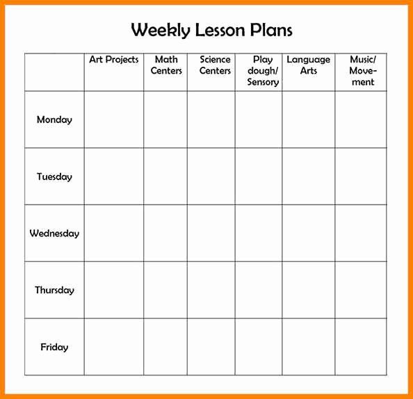 Editable Preschool Lesson Plan Template Editable Lesson Plan Template Unique 7 Editable Weekly