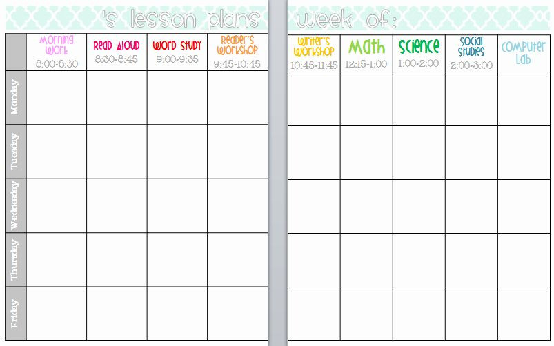 Editable Preschool Lesson Plan Template Editable Lesson Plan Template Unique Elementary organization