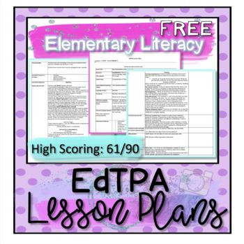 Edtpa Lesson Plan Template 2016 Edtpa Lesson Plans Elementary Literacy