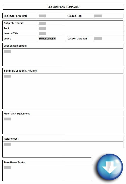 Elementary Lesson Plan Template Word Pin On Lesson Plan Templates