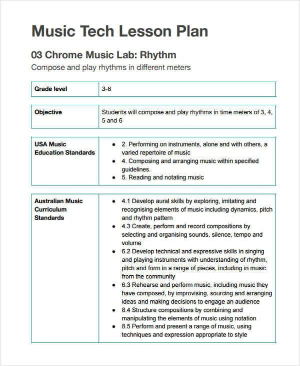 Elementary Music Lesson Plan Template Music Lesson Plan Template Awesome 12 Lesson Plan formats In
