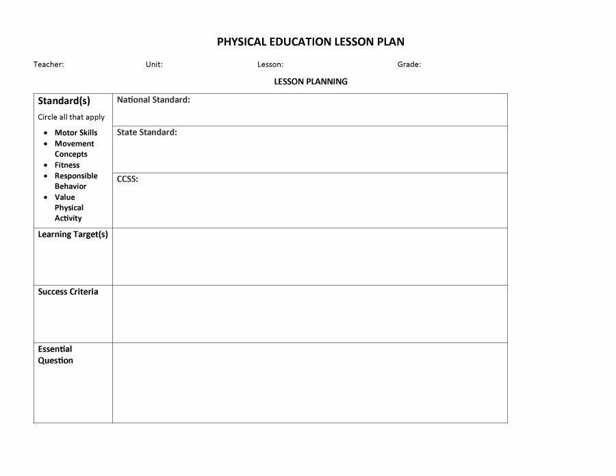 Elementary Pe Lesson Plan Template Pin by Kittenette On Future Home Schooling