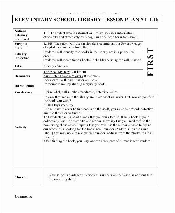 Elementary School Lesson Plan Template Lesson Plans Template Elementary Beautiful Free 62 Lesson