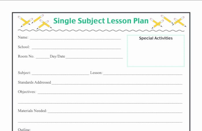 Elementary Weekly Lesson Plan Template Elementary Lesson Plan Template Fresh 6 Lesson Plan Examples