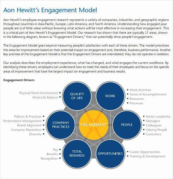 Employee Engagement Plan Template Employee Engagement Plan Template Lovely Free 12 Sample