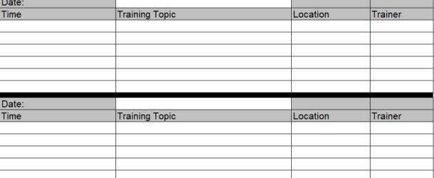 Employee Training Plan Template Word Employee Training Schedule Template Word