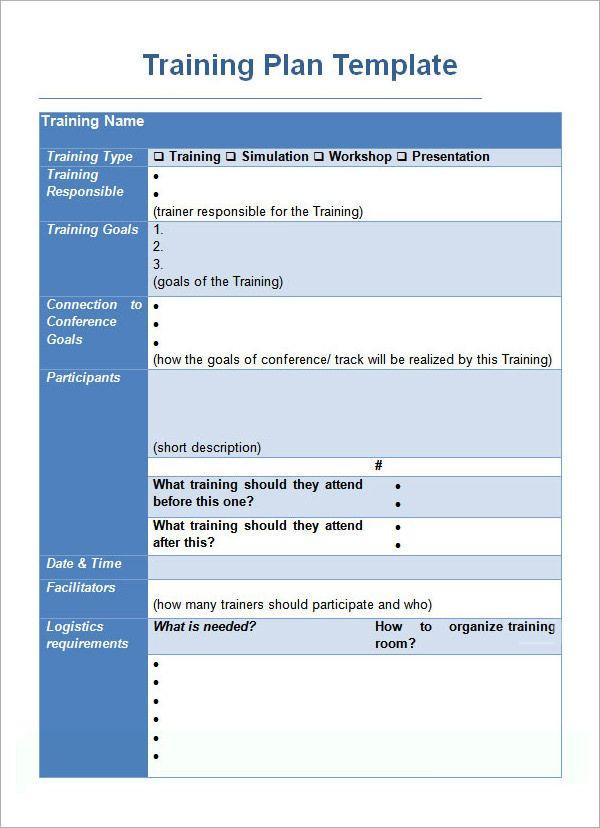Employee Training Plan Template Word Training Plan Template
