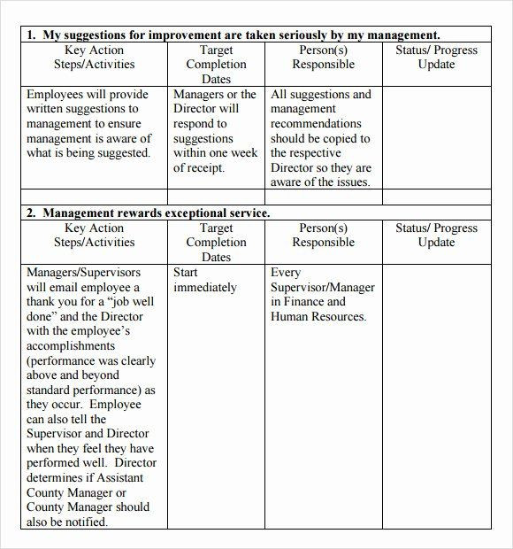 Employment Action Plan Template Employment Action Plan Template Awesome Action Plan Template