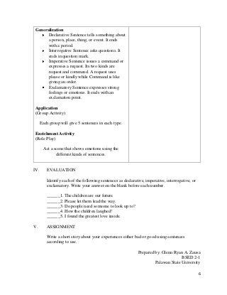 English Lesson Plan Template A Detailed Lesson Plan In English
