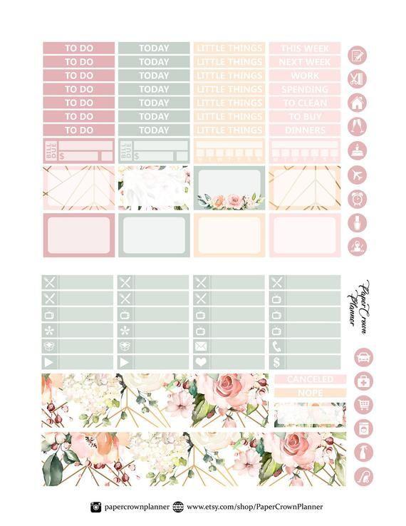 Erin Condren Planner Stickers Template Love Printable Planner Stickers for Erin Condren