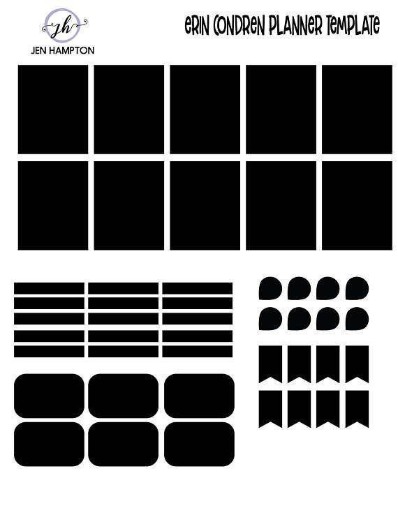 Erin Condren Planner Stickers Template Pin On Planning