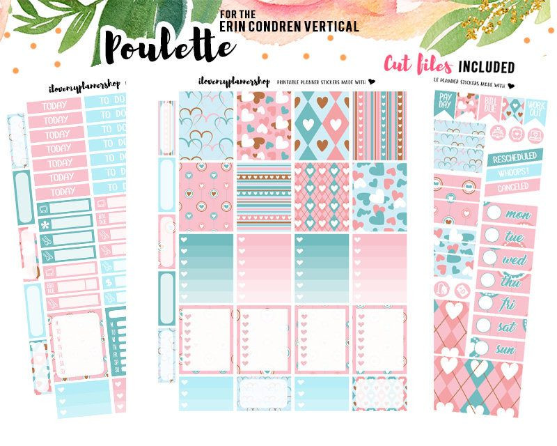 Erin Condren Planner Stickers Template Pin On Printable Weekly Kits