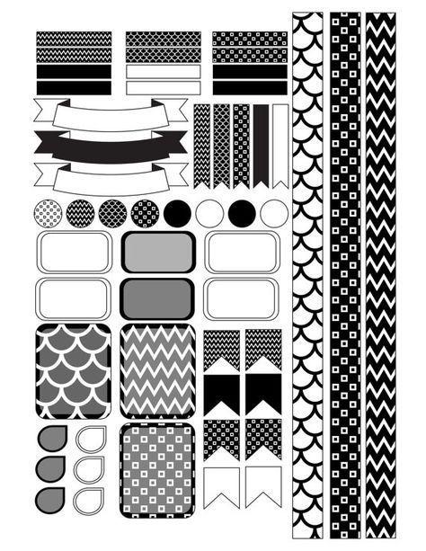 Erin Condren Planner Stickers Template Planner Stickers Erin Condren Planner Stickers Printable