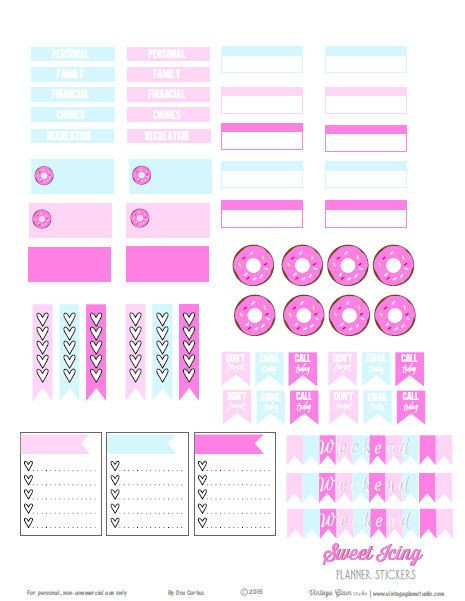 Erin Condren Planner Stickers Template Sweet Icing Planner Stickers Free Printable