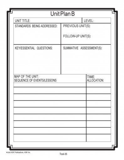Essential Question Lesson Plan Template Download Unit Plan Template 21 In 2020