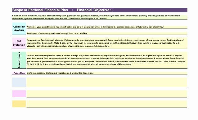 Estate Planning Template Personal Financial Plan Template Awesome Sample Prehensive