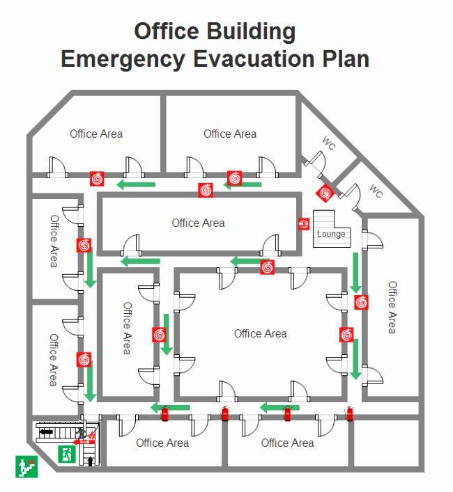 Evacuation Floor Plan Template Evacuation Floor Plan Template New Fice Emergency Evacuation