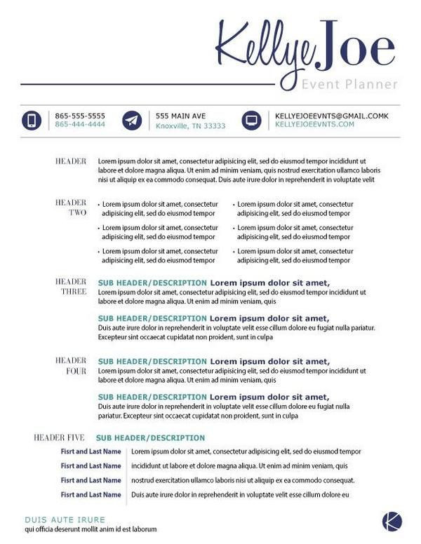 Event Planner Resume Template Creative event Planner Resume Google Search