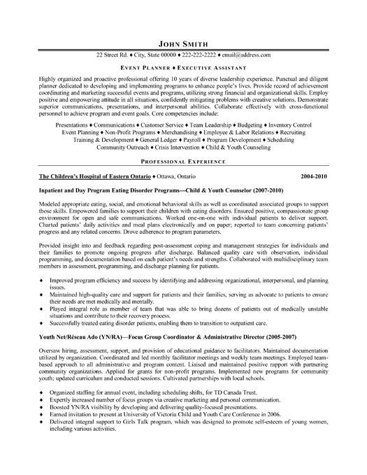 Event Planner Resume Template event Planner Resume Template