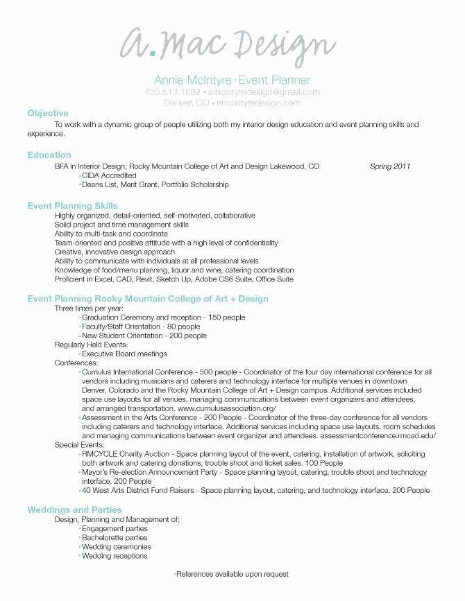 Event Planner Resume Template Pin On Job Resume Sample