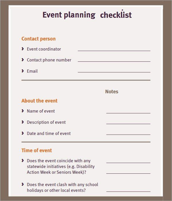 Event Planning Checklist Template Excel event Planning Checklist Template Elegant 11 Sample event