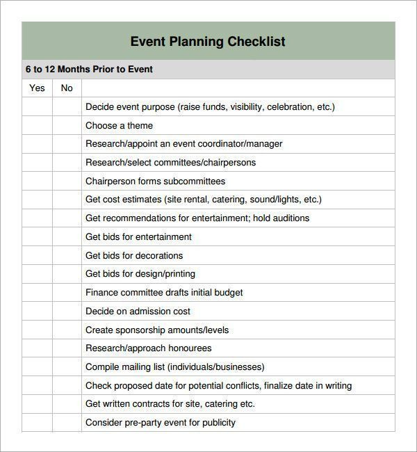 Event Planning Checklist Template Excel Special event Planning Checklist Weddingplanningchecklist